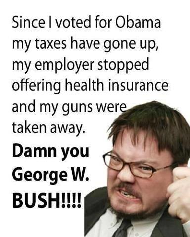 dam you geo w bush