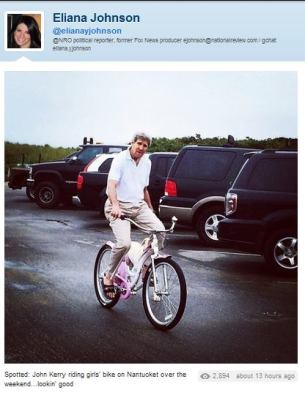 kerry on a bike