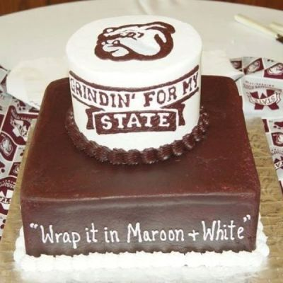 wrap it in maroon and white