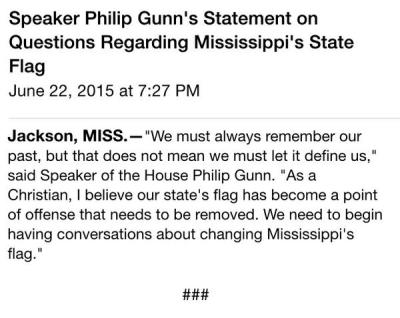 Gunn flag statement