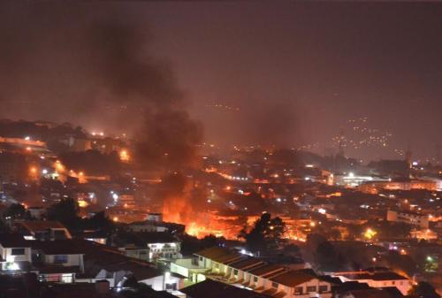 venezuela burns